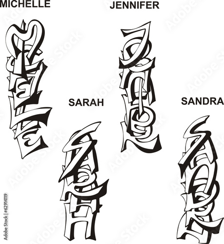 stylized female names