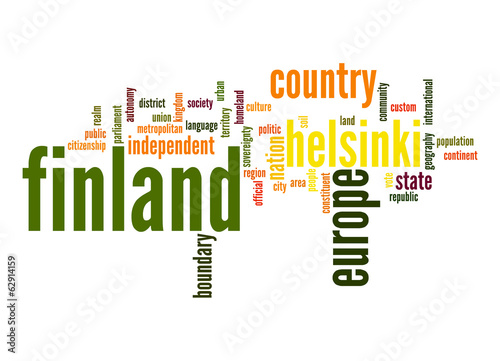Finland word cloud