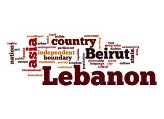 Lebanon word cloud