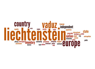 Liechtenstein word cloud