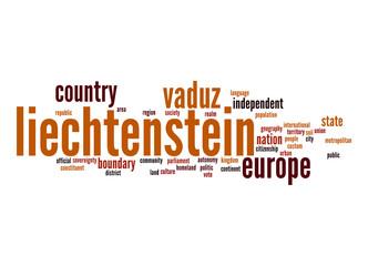 Liechtenstein word cloud