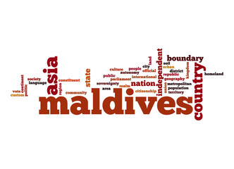 Maldives word cloud