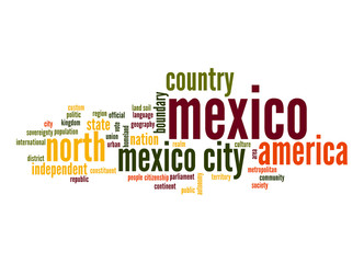 Mexico word cloud