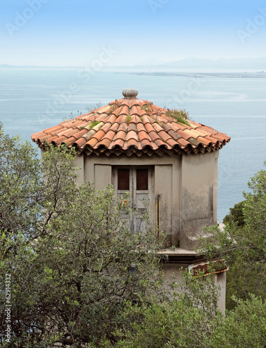 Nice - Tower overlooking the Mediterranean Sea