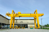 Yellow overhead crane