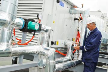 Senior adult electrician engineer worker