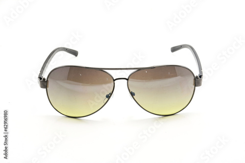 black sunglasses isolated on white background