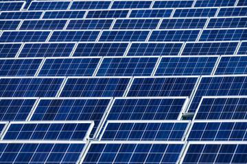 Reihen von Solarkollektoren