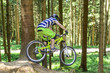 canvas print picture - Mountainbike-Downhill