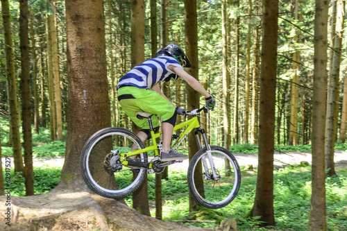 canvas print picture Mountainbike-Downhill