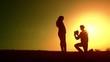 Happy Love Couple Silhouette Heart
