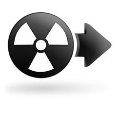 radioactivité sur bouton noir