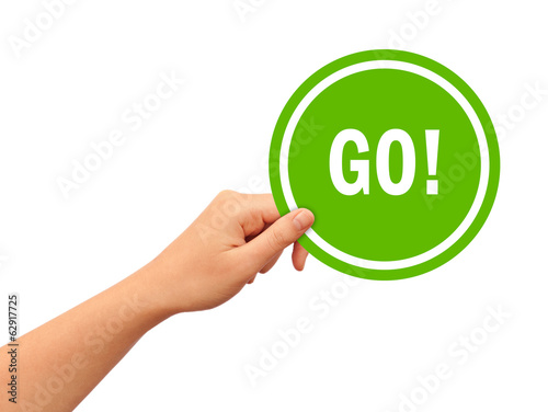 Go illustrated sign