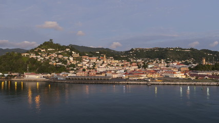Timelapse leaving Port St George Grenada at sunset