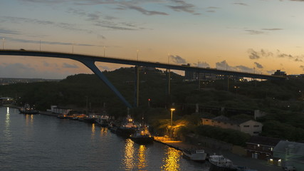 Timelapse arrival at Port Willemstad Curacao