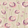 Floral rose background, seamless