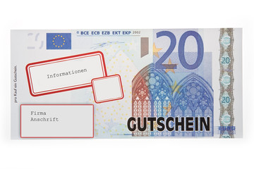 Blanko Gutschein 20 Euro