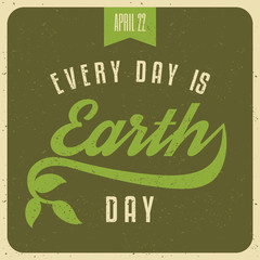 Typographic Earth Day Poster