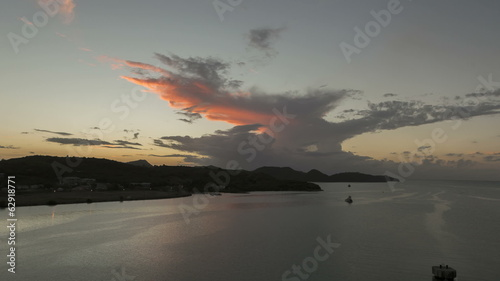 Timelapse leaving Port St John Antigua at sunset