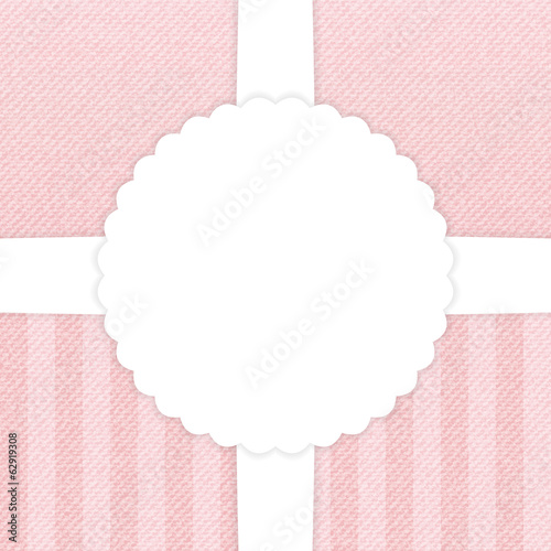 Jeans light pink greeting card