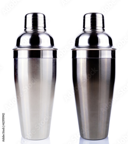 Cocktail shakers. Isolated on white background