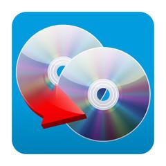Etiqueta tipo app cuadrada copiar dvd