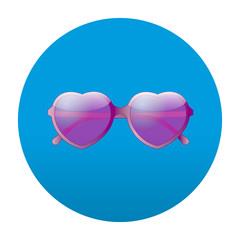 Etiqueta tipo app redonda azul fashion