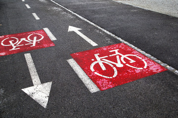 Bike sign path