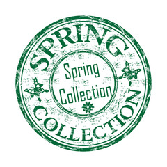 Spring collection grunge rubber stamp