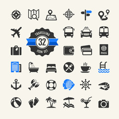 Web icon set -  travel, vocation and inbound tourism