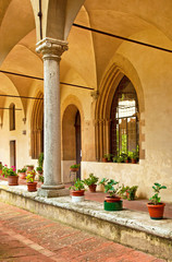 Cloister of a medieval church