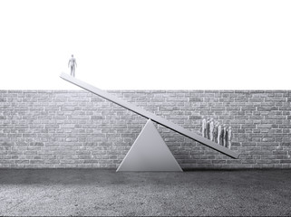 People litfing a single person over a wall