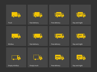 Shipments and free delivery icons.