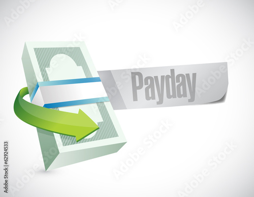 payday stack of money illustration design