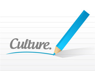 culture written message illustration design
