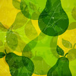 Vector Illustration of an Abstract Background with Pears