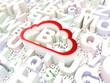 Cloud computing concept: Cloud on alphabet background