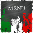 Vector Illustration of an Italian Menu Design