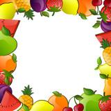 Vector Illustration of Glossy Fruits