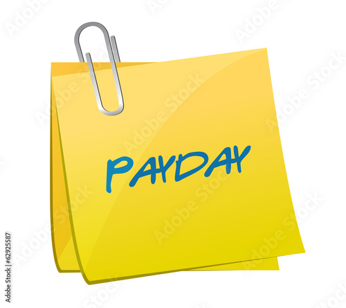 payday message on a post. illustration design