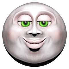 Full Moon Smiling Face 3D - 2
