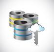 server database big data illustration design