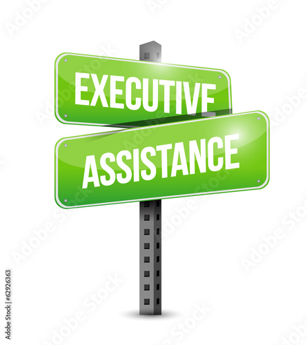executive assistance signpost illustration