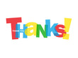 """THANKS"" Letter Collage (thank you card greetings gratitude joy)"