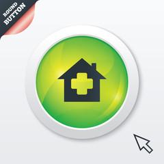 Medical hospital sign icon. Home medicine symbol