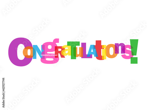 """CONGRATULATIONS"" Letter Collage (card well done achievement)"