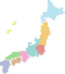 日本地図 JAPAN