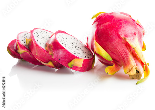Dragon Fruit isolated  white background.