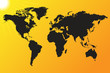 World map sun background