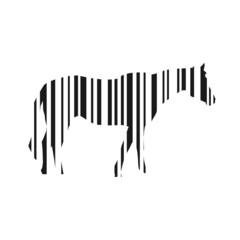 Barcode horse illustration